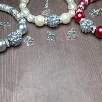 21st 18th special birthday pearl charm bracelet 16 30 40 50 red ivory grey