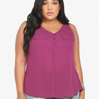 Pocketed Tank Top
