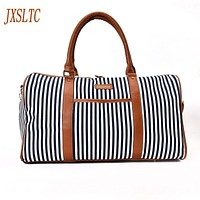 JXSLTC Canvas Leather Women Travel Bag women Travel Duffel Bags Tote Large Weekend Bag Overnight Carry on Luggage Shoulder Bags. by Inland Leather