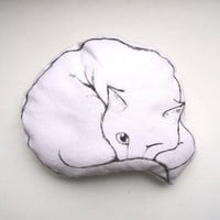 cat pillow cat black and white decorative pillow cute hand painted drawn soft toy home decor