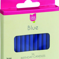 Cake Mate Birthday Party Candles - Round - Blue - 2 In X 3-16 In - 36 Count - Case Of 12