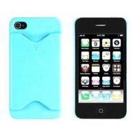 Sea Green Credit Card ID Case for Apple iPhone 4, 4S (AT&T, Verizon, Sprint)