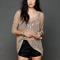 Free People Pointelle Pullover Sweater