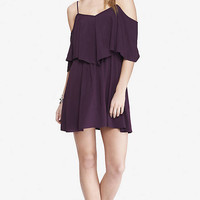 CURRANT OFF THE SHOULDER DRESS from EXPRESS