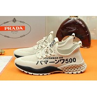 prada men fashion boots fashionable casual leather breathable sneakers running shoes 94
