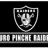 3x5ft PURO PINCHE RAIDERS Flag with two metal Grommets white sleeve