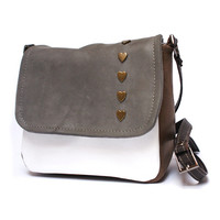 Mini messenger bag, messenger purse, leather bag, leather purse, cross body bag, cross body purse, square shoulder bag, satchel purse bag