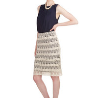 ModCloth Boho Knee Pencil First Day of Work It Skirt
