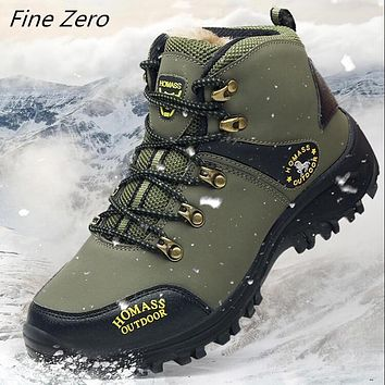 Men Waterproof Hiking Shoes Breathable Tactical Combat Army Boots New Outdoor Climbing Shoes Non-slip Trekking Sneakers For Men
