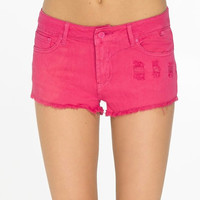 Women Pink Distressed Denim Short Jean Shorts Discharged Ripped  Summer Shorts Beach Shorts Yoga Fitness Workout Clothes
