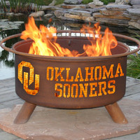 OU University of Oklahoma Sooners Portable Outdoor Grilling NCAA Fire Pit
