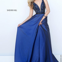 Sherri Hill 50233 Tank Beaded Ball Gown Prom Dress – Off White by Bridal Expressions
