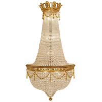 French 19th Century Louis XVI Style Baccarat Crystal and Ormolu Chandelier