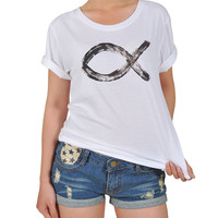 Women Christian religion symbol Graphic Printed Cotton T-shirt  WTS_12