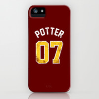 Harry Potter - Quidditch Number 07 Gryffindor iPhone & iPod Case by SOULTHROW