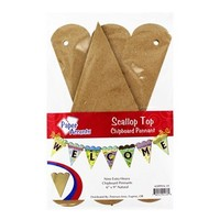 Scallop Top Chipboard Pennant | Shop Hobby Lobby