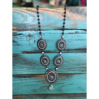 Long concho necklace (other colors)