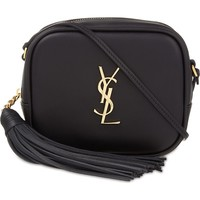 SAINT LAURENT - Monogram Blogger leather shoulder bag | Selfridges.com