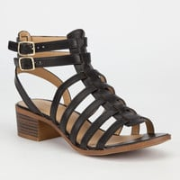 City Classified Tab Womens Fisherman Sandals Black  In Sizes