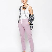 ASOS | ASOS Basic Joggers with Contrast Tie at ASOS