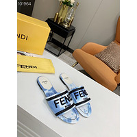 Fendi Popular Summer Women's Flats Men Slipper Sandals Shoes 0325