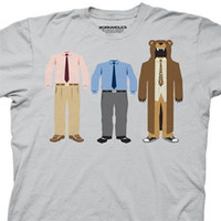 Workaholics Shirt Character Suits Adult Grey Tee T-Shirt