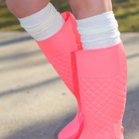 The Rainy Day Runner Rain Boots-Candy Pink