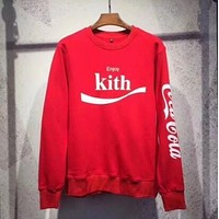 Kith x Coca Cola Print Long Sleeve Fashion Top Sweater Pullover