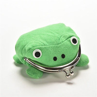 FM Cute Naruto Frog Wallet Green Coin Purse Wallet Lovely Gift Wallet Nice
