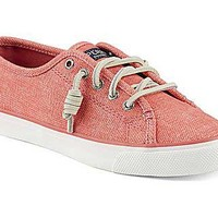 Sperry Top-Sider Womens Seacoast Wax Sneaker in Coral STS96995