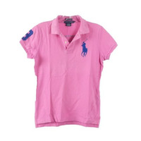 Ralph Lauren Pink Skinny Polo Number 3 on Sleeve/Back  Sz S