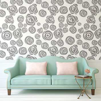 Rose Wall Decal, Floral Wall Decals, Flower Wall Decals, Nursery Wall Decals, Apartment Decor, Nursery Decals, Nursery Wall Decor