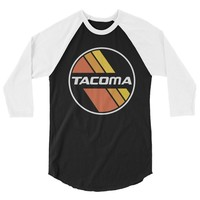 Retro Stripes Toyota Tacoma raglan shirt