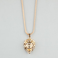 The Gold Gods Lion Head Necklace Gold One Size For Men 23971362101
