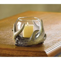 Rustic Antler Votive Candle Holder