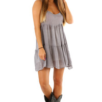 Anything Goes Dress: Gray