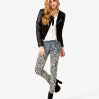 Quilted Sleeve Moto Jacket | FOREVER 21 - 2021839333