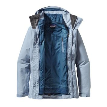Patagonia Women's 3-in-1 Snowbelle Jacket for Skiing and Snowboarding | Tobago Blue