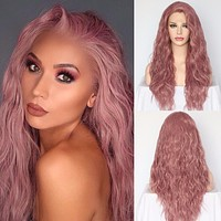 Dusty Lavender Front Lace High Grade Heat Resistant Synthetic Wig