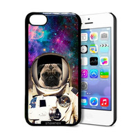 Shawnex Astranout Space Hipster Pug iPhone 5C Case - Thin Shell Plastic Protective Case iPhone 5C Case