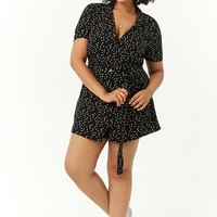 Plus Size Polka Dot Romper
