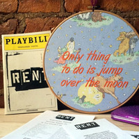 Broadway Decor RENT the MUSICAL - Embroidery Hoop Wall Hanging