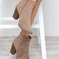 Roberta Booties in Taupe