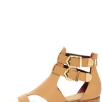 Report Signature Darian Tan Belted Leather Sandals
