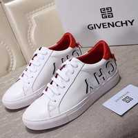 GIVENCHY Urban Street Logo Sneaker in White/ Red