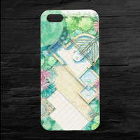 Garden Illustration Aerial View iPhone 4 and 5 Case