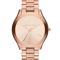 Mid-Size Rose Golden Stainless Steel Runway Three-Hand Watch - Michael Kors