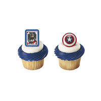 Captain America Winter Soldier Cupcake Rings