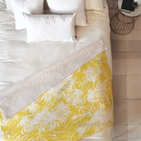 Vy La Bright Breezy Yellow Fleece Throw Blanket