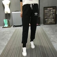 """""""Adidas"""" Women Sport Casual Small Foot Sweatpants Leisure Pants Trousers"""